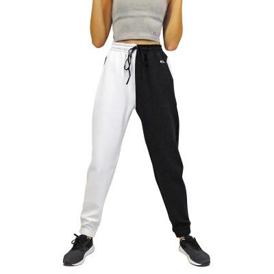 Дамско долнище - Черно и бяло с висока талия