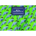 Мъжки шорти за плуване - щампа зелени делфини
