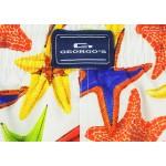 Мъжки шорти за плуване - щампа цветни морски звезди