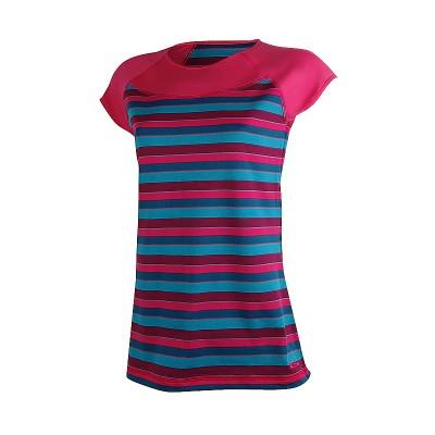 Дамска тениска розово и синьо райе