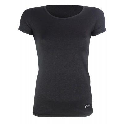 Дамска блуза - Черно с метални нишки
