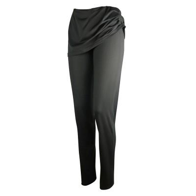 Дамски панталон с широк, обръщащ се колан